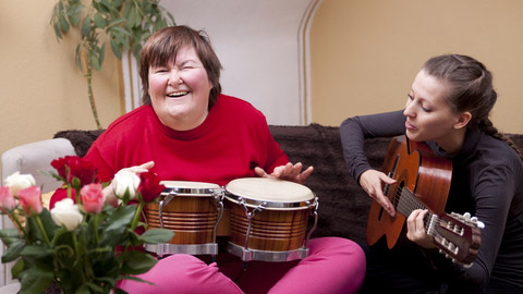 http://www.dreamstime.com/stock-photography-two-women-make-music-therapy-having-fun-image30235352
